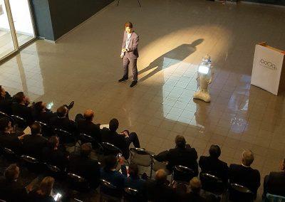 Inspirerende keynote publiek